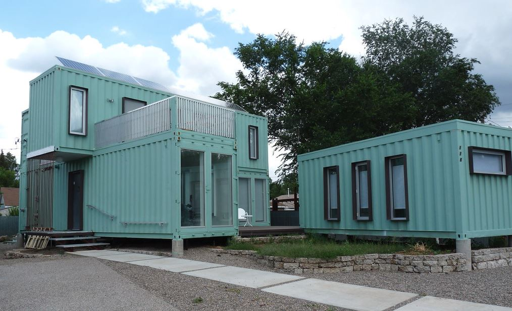 Shipping container home insulated